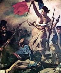 """Eugéne Delacroix: """"Friheten på barrikaderna"""" (1833)"""