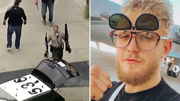 Här slår FBI till mot Youtube-stjärnans mansion –bär ut vapen
