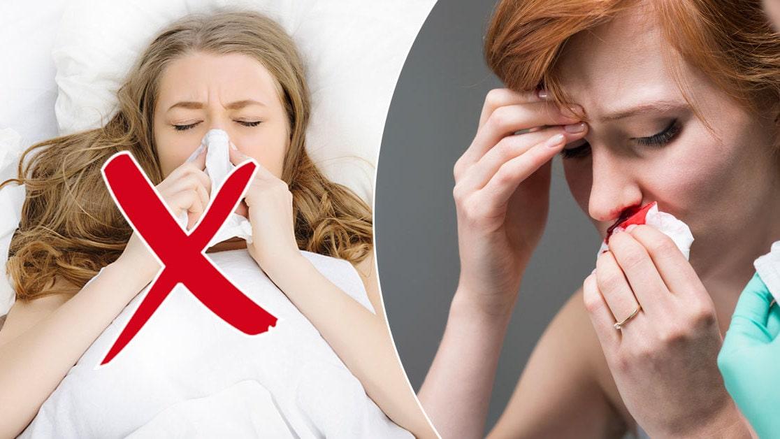 hur får man stopp på näsblod