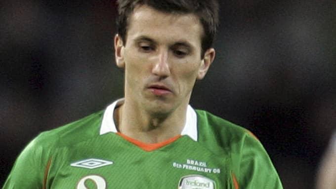 Liam Miller i irländska landslagströjan. Foto: PAUL THOMAS / AP