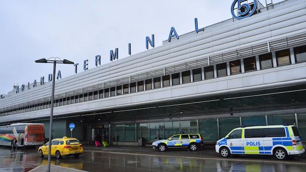Plan larmade vid landning på Arlanda