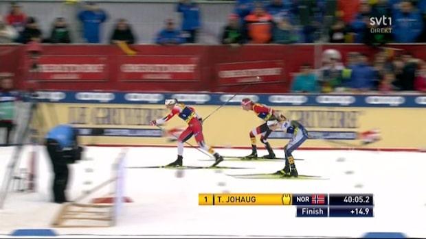 Höjdpunkter: Ebba Andersson tappar pallplatsen på upploppet