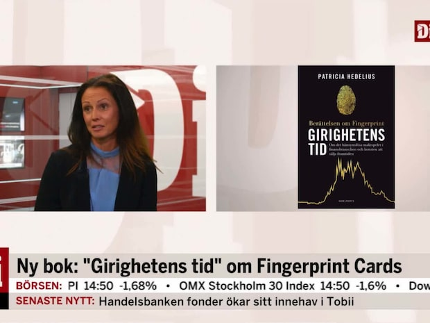 Journalisten Patricia Hedelius om sin bok om Fingerprint Cards