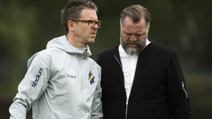 Rikard Norlind, tränare, och Björn Wesström, sportchef. Foto: SIMON HASTEGÅRD / BILDBYRÅN