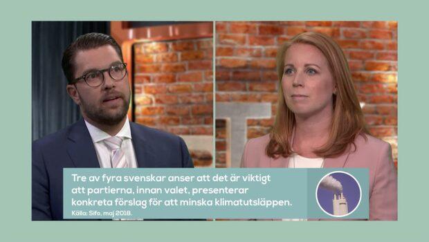 Duellen 2018: Annie Lööf vs Jimmie Åkesson – se hela programmet