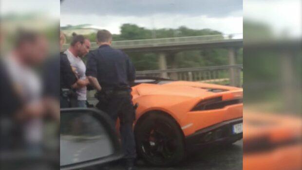 Jan Emanuel stoppades av polis
