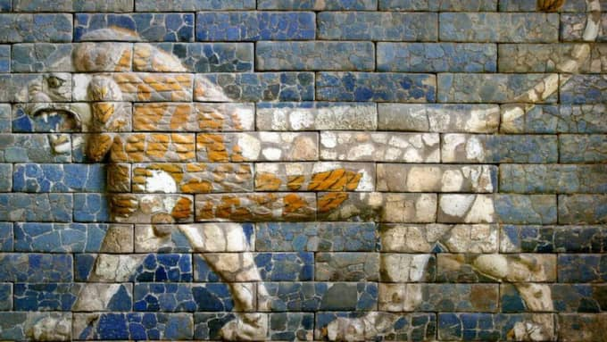 Antikt imperium. Relief från fasaden till tronsal i Babylon. Foto: Mikael Lammgård