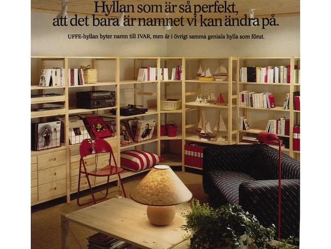 """""""Hyllan som är så perfekt att det bara är namnet vi kan ändra på"""". Ivar får sitt nuvarande namn i katalogen 1984."""