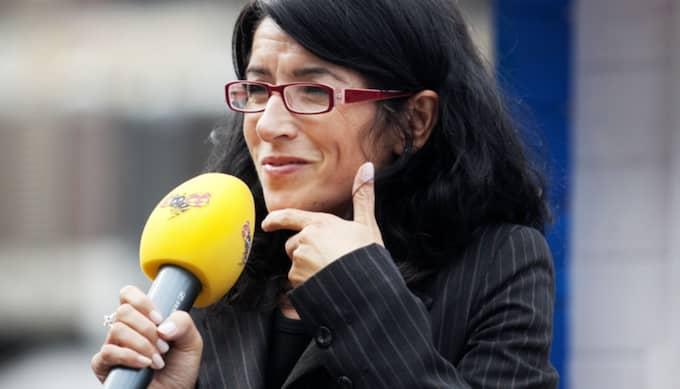 Vänsterpartiets Amineh Kakabaveh är upprörd över Löfvens ord om att Turkiet ska närma sig EU. Foto: Maria Hansson