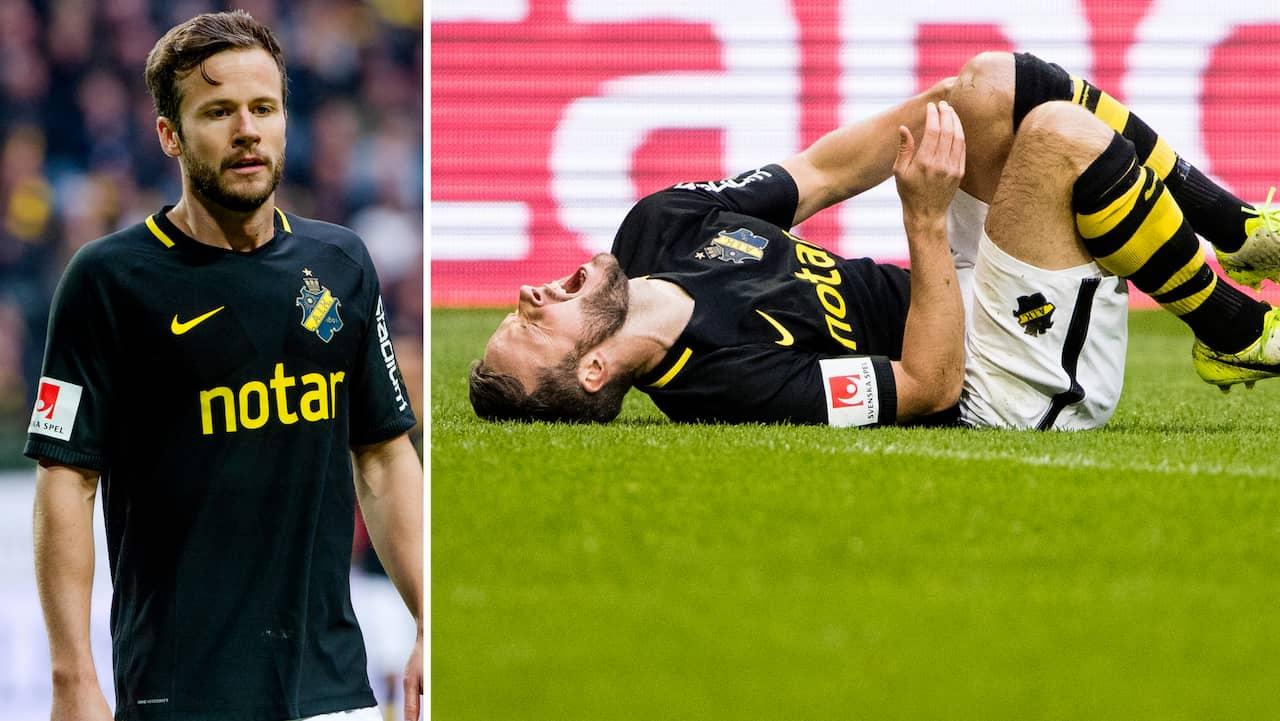 AIK:s Robert Lundström gjorde comeback efter ett års frånvaro