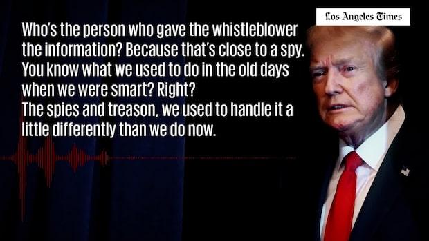 Uppgifter: Trump liknar visselblåsaren vid en spion