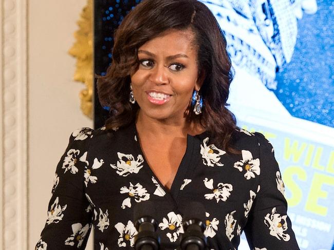 Enligt Michelle Obama fick inte mycket att säga till om när familjen flyttade från Vita huset till sitt nya hem.