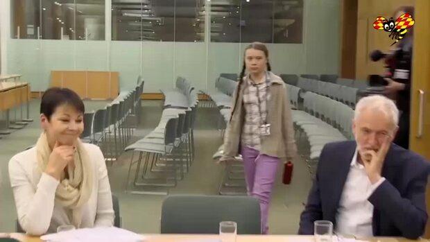 Greta Thunberg talade i brittiska parlamentet