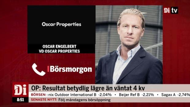 """Oscar Properties VD: """"jag är inte nöjd med resultatet"""""""