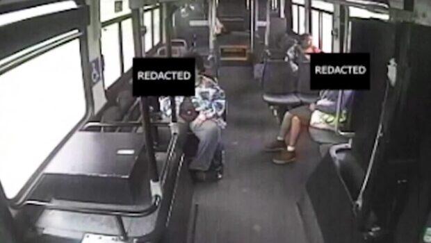 Busschauffören hinner inte reagera
