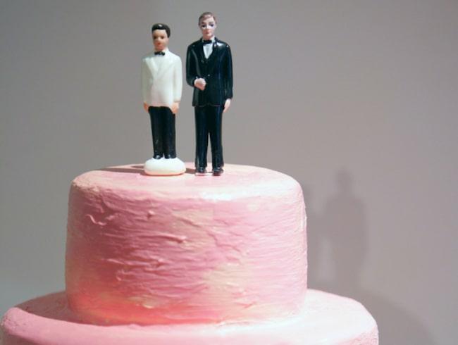 <span>Kvarglömt: En två meter hög bröllopstårta.</span>