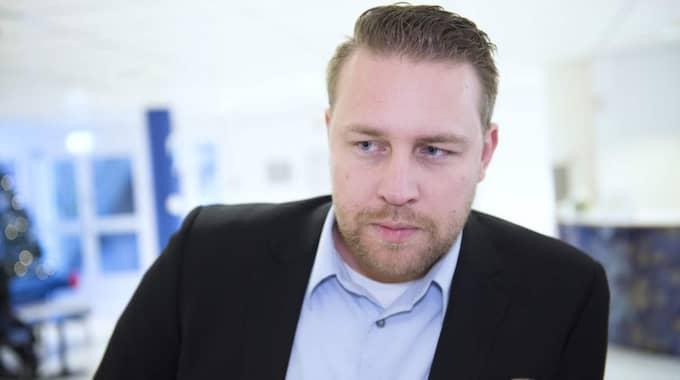 SD:s vikarierande partiledare Mattias Karlsson pekas ut som drivande i uteslutningsärendena. Foto: Sven Lindwall