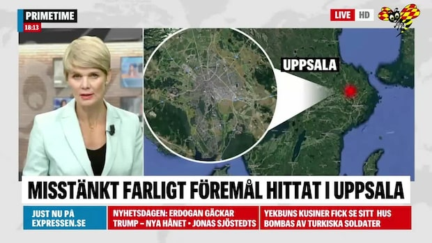 Misstänkt farligt föremål i Uppsala