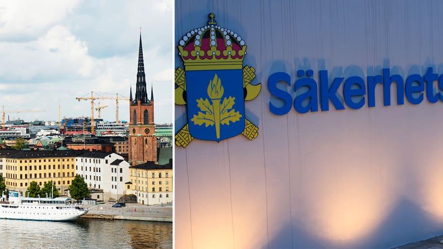 Säpo har tagit emot ett terrorhot mot Stockholm