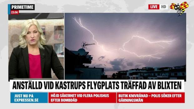 Man träffad av blixten på Kastrup