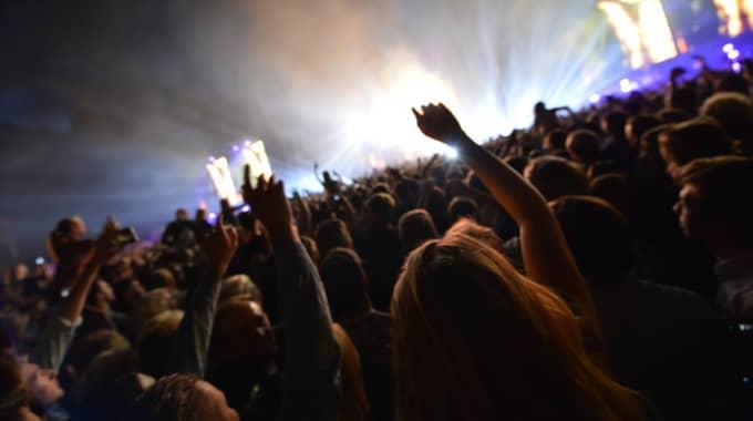 Cirka 15 000 personer fanns på Tallriken i Malmö under fredagskvällen. Foto: / Pelle T Nilsson/Stella Pictures
