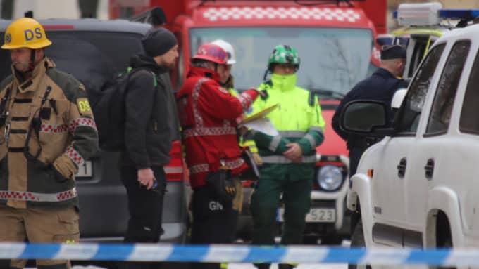 Bombgruppen har larmats till Gärdet i Stockholm Foto: JANNE ÅKESSON/SWEPIX