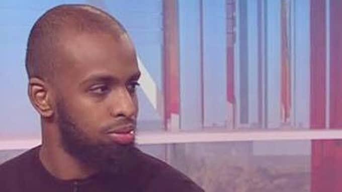 """Rashid Musa, ordförande för Sveriges unga muslimer, i SVT:s """"Gomorron Sverige"""". Foto: Sveriges unga muslimer"""