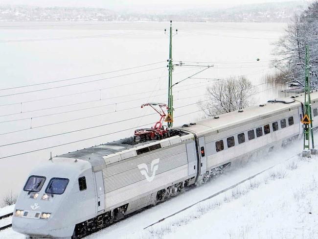 Tågresandet i jul beräknas öka med 13 procent jämfört med förra året.