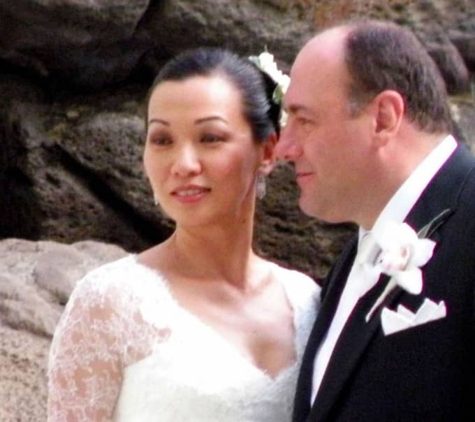 2009 gifte han sig med sin flickvän, den före detta modellen, Deborah Lin. Paret fick en dotter 2012. Gandolfini hade en son, Michael från ett tidigare äktenskap.