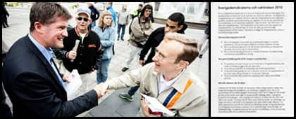 """NY SYN P SD. Förr kallade Ilja Batljan och Socialdemokraterna SD för ett högerextremt parti nu har synen på Sverigedemokraterna förändrats. Nu säger partiledningen att debatterna ska handla om """"att SD är ett högerparti som nästan alltid stödjer alliansen."""" Foto: CORNELIA NORDSTRÖM"""