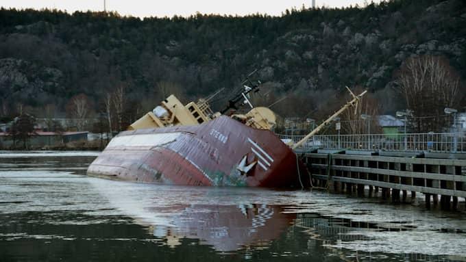 Fartyget tog in vattem Foto: Mikael Berglund