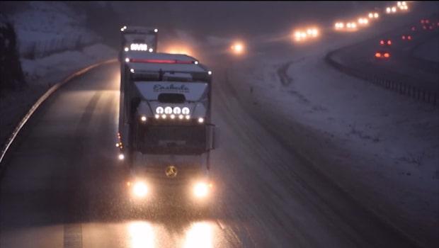 Kraftig snöstorm på väg mot Sverige
