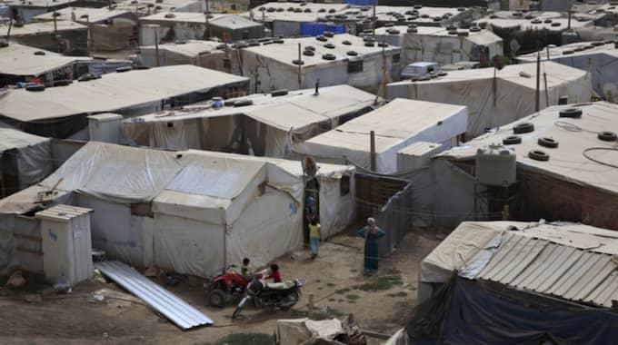 Syriska flyktingar i ett flyktingläger i Libanon. Foto: Bilal Hussein