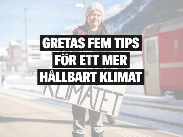 Greta Thunbergs fem klimattips