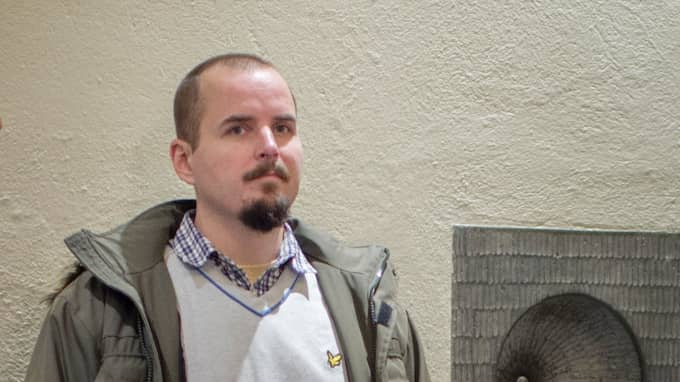 Simon Lindberg, ledare för nazistiska Nordiska motståndsrörelsen i Stockholmstingsrätt. Foto: MELI PETERSSON ELLAFI