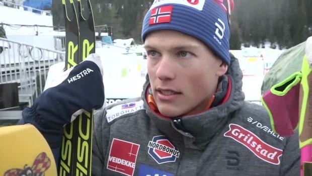 Hösflot Kläbo efter bråket med konkurrenten