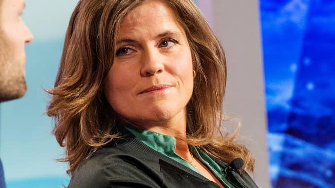 Pernilla Wiberg i SVT. Foto: EMIL NORDIN