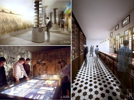 Museet ligger i ett nygotiskt gammalt destilleri.