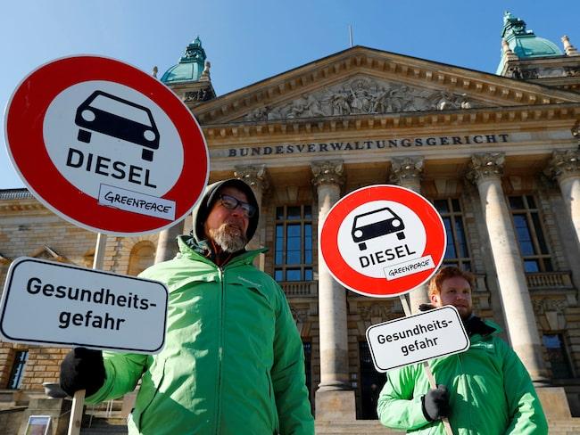 Diesleförbudet i flera tyska städer kom efter omfattande protester från miljöaktivister.