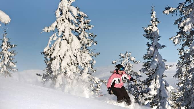 Mulet med snöfall på Idre fjäll under måndaten. Foto: KRISTER LARSSON
