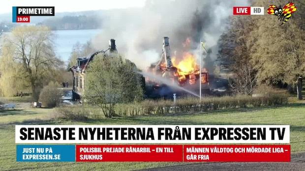 Storbrand på Norsborgs herrgård –kan inte räddas