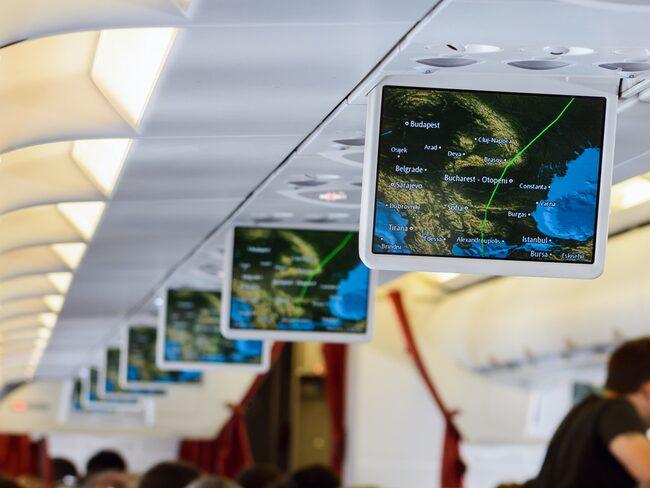 Det amerikanska företaget Rockwell Collins är ansvarigt för många kartor ombord på flygplan världen över.