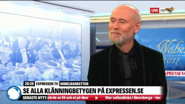 Lars Wallin om nobelklänningarna