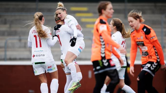 FC Rosengård vann den sista gruppmatchen i Svenska cupen mot Kristianstad med 3–2. Foto: MATHILDA AHLBERG / BILDBYRÅN