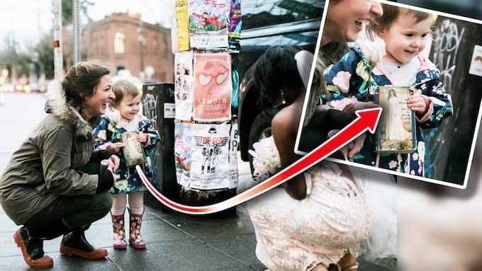 Tvååringen fick syn på prinsessan från hennes bok. Foto: Imgur