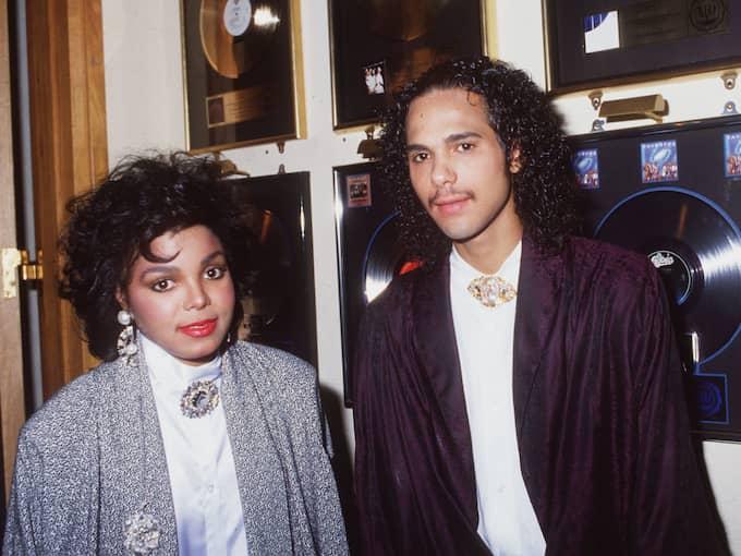 Janet Jackson tillsammans med sin ex-man James Debarge Foto: Bei/Rex / BEI/REX/IBL REX FEATURES [DOWNLOADED]