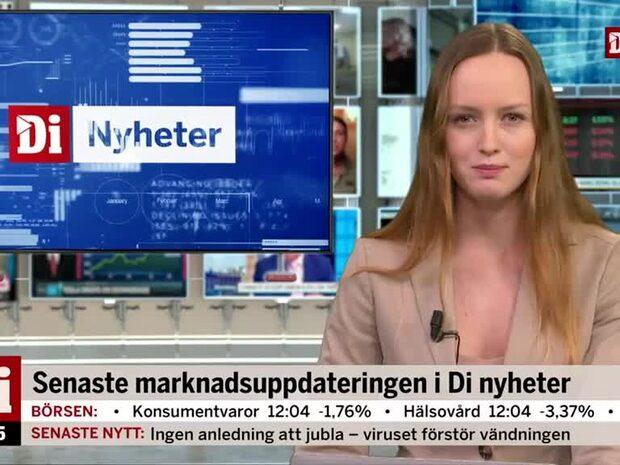"""Di Nyheter: """"Samtliga bolag i storbolagsindex faller"""""""