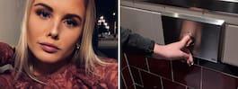 Amanda, 22, fastnade på  toaletten – fick skruvas loss