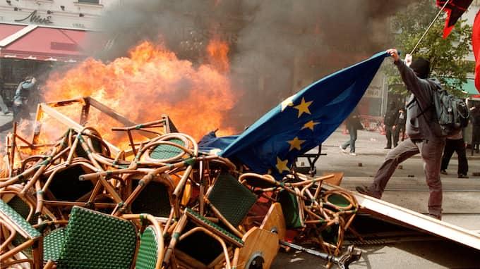 När Göteborg senast stod värd för ett EU-toppmöte, 2001, urartade det i kravaller. Bilderna spreds runt världen. Foto: JOHAN FRÄMST / -