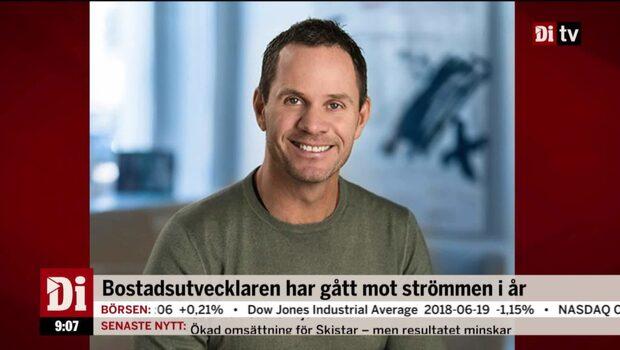 Bostadsutvecklaren ordförande om listbytet till Stockholmsbörsen